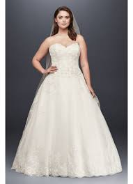 plus size wedding gowns beaded lace and tulle plus size wedding dress david s bridal