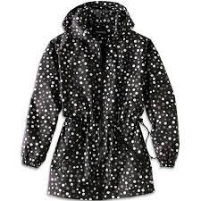shedrain womens packable fashion polka dot print