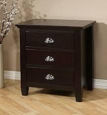 waynesborough dark espresso 3 drawer nightstand free shipping