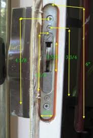 Patio Door Mortise Lock Replacement Patio Door Locks How To Replace Your Handle And Lockset