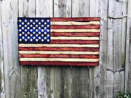 Reclaimed Wood Flag Small Reclaimed Wood American Flag With 50 Stars