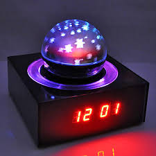 Alarm Clock With Light On Ceiling Projecting Lcd Alarm Clock With Nature Sounds And Snooze