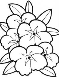 very simple flower coloring page for preschool crafts pages plants