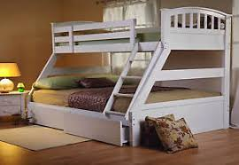 Tri Bunk Beds Uk Sweet Dreams Epsom White Bunk Bed Solid Wood Underbed