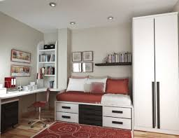 Small Room Storage Ideas Comfortable by Small Bedroom Storage Ideas Wooden Loft Bunk Bed White Wall Decor