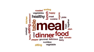 animation cuisine meal word cloud text design animation motion background