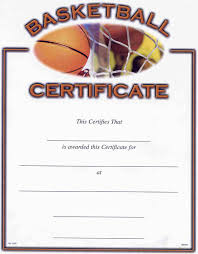 basketball award certificate to print activity shelter blank
