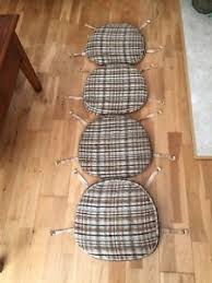 Ercol Dining Chair Seat Pads Set Of 4 Original Vintage Ercol Dining Chair Seat Pad Cushions Ebay