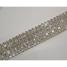 bling ribbon 4 row cake ribbons real rhinestones bling cake