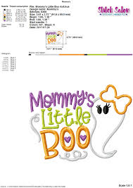 mommy u0027s little boo halloween embroidery design files for u0027s