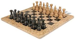 Chess Set Amazon Amazon Com Classic Coral Stone U0026 Black Marble Chess Set With 16