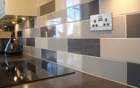 cream gloss kitchen ideas kitchen wall tiles linear grey gloss tile from impressive zhydoor