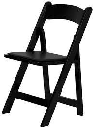 Wood Folding Chairs Black Wood Folding Chair Padded Vinyl Seat Set Of 10 Chairs