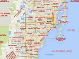 Florida Coast Map This Judgy Miami Map Will Offend Pretty Much Everyone Curbed Miami