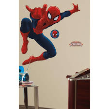 spiderman ultimate piece peel and spiderman ultimate piece peel and stick giant wall decal