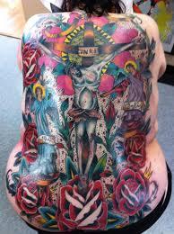 cross classic tattoo cleveland ohio traditional tattoo color