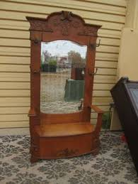 Antique Hall Bench Antique Hall Tree With Bench And Mirror Google Search Entry