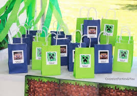 minecraft goody bags how to throw a minecraft party