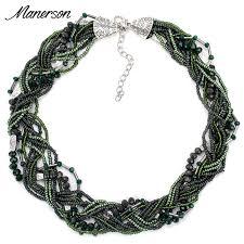 handmade beaded necklace images 2017 fashion boho round beaded necklace pendant bohemian handmade jpg
