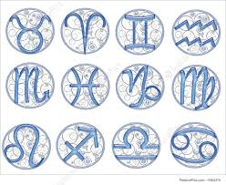 glass zodiac signs illustration
