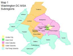 washington dc region map u r b a n t r e k k e r suburban living