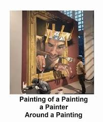 Painter Meme - painting of a painting a painter around a painting meme on esmemes com