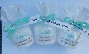 tiffany blue baby shower favours personalised candles