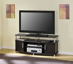 Metal Media Cabinet Black Lacquered Oak Wood Media Cabinet Decor With Chromed Metal
