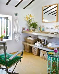 bathroom classic tropical decor with eclectic green classic tropical bathroom decor with eclectic green side table and white slanted ceiling ideas inspiration natural scene