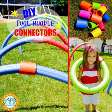 these are awesome diy pool noodle connectors for fun outdoor
