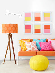 how to paint color blocked wall art hgtv