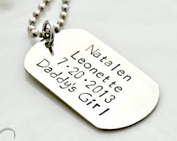 Personalized Dog Tag Necklaces Dogtag Necklace Etsy
