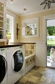 fantastic laundry room design ideas with rustic glass floor design