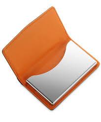 Business Card Case Leather Leather Business Cardcase Carbon Fibre Black Orange Dalvey