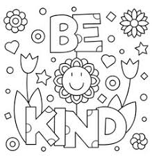 coloring pages on kindness choose kindness coloring page royalty free vector image