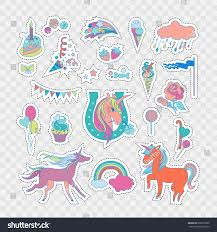 Unicorn Cloud by Handdrawn Elements Rainbow Unicorn Cloud Cake Stock Vector