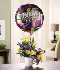 balloons and chocolate delivery thank you flower balloon bundle at from you flowers