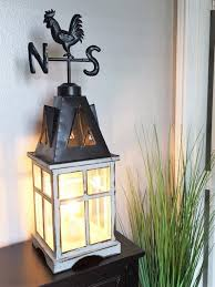 Lantern Table Lamp Weathervane Farmhouse Lantern Table Lamp U2013 Out Of The Woodwork Designs