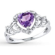 amethyst heart rings images Amethyst heart ring 1 10 ct tw diamonds sterling silver jpg