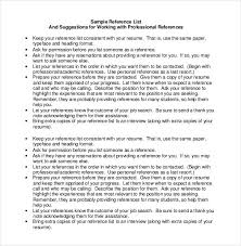 Resume Reference List Format Professional Reference List Sample Reference Page For Resume