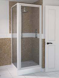 900mm Shower Door Aqua 4 900mm Pivot Shower Door White