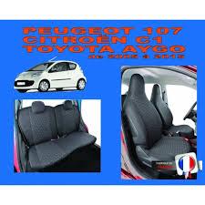 sur siege auto housse de siège auto sur mesure privilège pour voiture peugeot 107