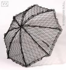 lace accessories carnival accessories lace umbrella black fancy dress