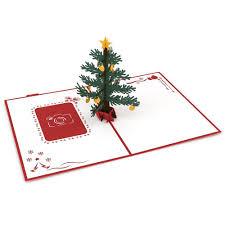 photo christmas tree pop up christmas card lovepop