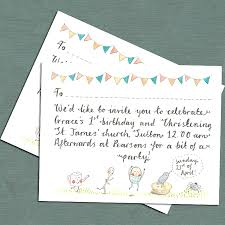 Sample Of Invitation Card For Christening Whimsical Christening Invitation By Victoria Whincup Illustration