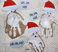 handprint santa spoonful of imagination
