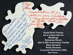 50th anniversary guest book personalized wedding guest book puzzles unique guest book puzzle ideas