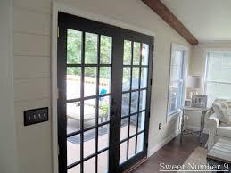 interior design cozy double glass double main black interior