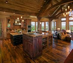 Rustic Open Floor Plans | home design open floor plan farmhouse kitchen rustic with vaulted
