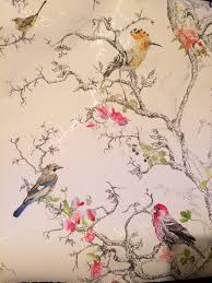 Shabby Chic Kitchen Wallpaper by Birds Wallpaper B U0026q Lounge Projects To Try Pinterest